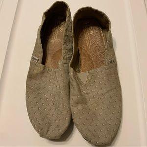 Grey TOMS. 10-1/2 $30